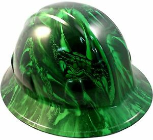 Wild side Unique Venom Snake Hydro Dipped Safety Full Brim Hard Hat do You Dare