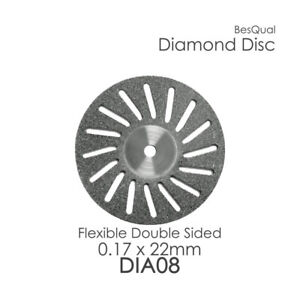 Dental Lab Diamond Disc 8 Perforated 22mm X 0 17mm 6 piece For Porcelain