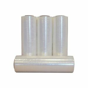 4 Rolls Hand Stretch Clear Film Shrink Wrap 18 x 1500 80 Gauge Made In Usa