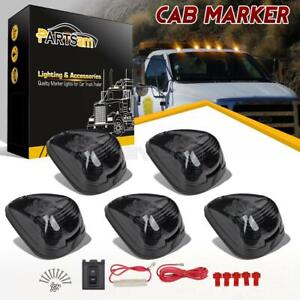 5x264143bk Amber Led Smoke Roof Cab Marker Clearance Lights wring Pack For Ford