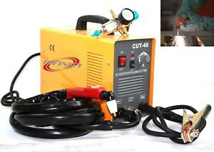 40amp 220v Dc Inverter Plasma Cutter Cutting Machine W Regulator Gauge
