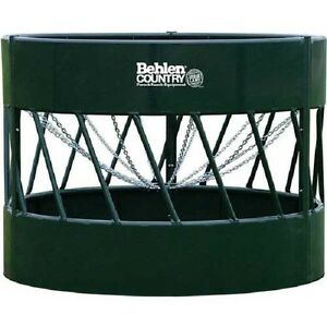 New Haysmart Round Bale Feeder For Cattle 96 l X 96 w X 72 h Green