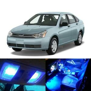 6x Blue Led Light Interior Bulb Package Deal For 2008 2011 Ford Focus