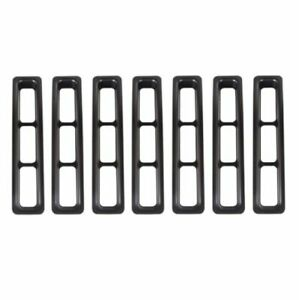 Rugged Ridge 11306 03 Black Grille Inserts For 97 06 Jeep Wrangler