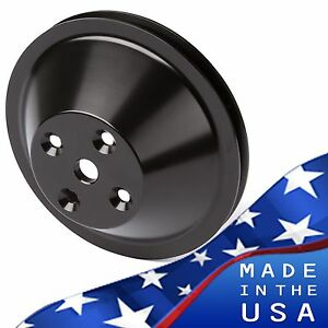 Black Billet Aluminum Small Block Chevy Water Pump Pulley 1v Lwp Sbc 350 327