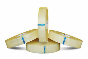 6 Rolls Clear Packing 2 5 Mil Hotmelt Machine Packaging Tape 2 X 1000 Yards