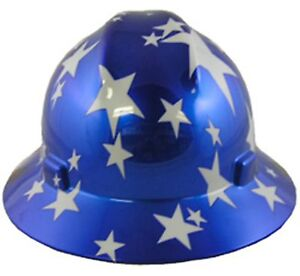 Msa American Pride Full Brim Hard Hats 3 Styles Ratchet Suspension made In Usa