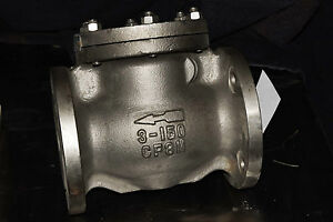 Md Stainless Steel Flange Swing Gate Check Valve 3 Class 150 175875 Cf8m