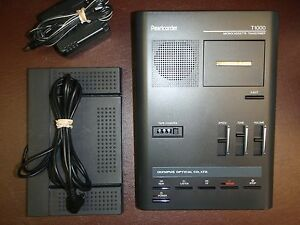 Olympus T1000 Microcassette Transcriber With Foot Pedal Headset Warranty