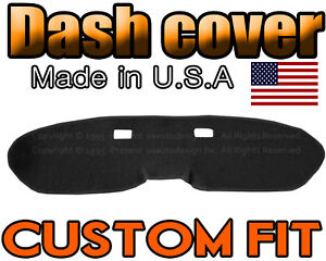 Fits 1964 1966 Ford Mustang Dash Cover Mat Dashboard Pad Black