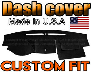 Fits 2007 2012 Ford Fusion Dash Cover Mat Dashboard Pad Black