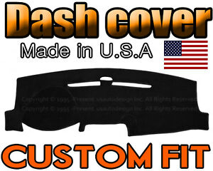 Fits 2013 2018 Ford Fusion Dash Cover Mat Dashboard Pad Black