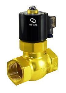 Brass Hot Water Steam High Pressure Electric Solenoid Valve Nc 12v Dc 1 5 Inch