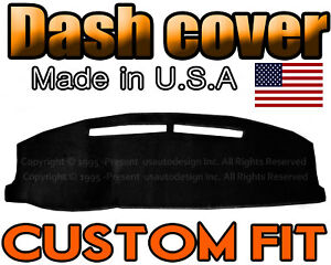 Fits 2007 Honda Accord Dash Cover Mat Dashboard Pad Black