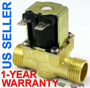 1 2 Inch 24v Ac Vac Slim Brass Solenoid Valve Nps Gas Water Air Normally Closed