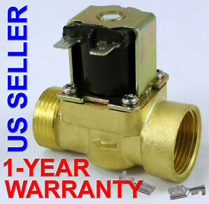3 4 Inch 24v Ac Vac Slim Brass Solenoid Valve Nps Gas Water Air Normally Closed