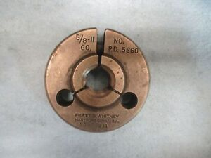 5 8 11 N c Go Only Thread Ring Gage Nc 625 P d Is 5660 Machinist Tooling