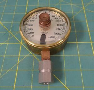 Vintage Us Gauge 3 Absolute Pressure Gauge W Rotating Set point