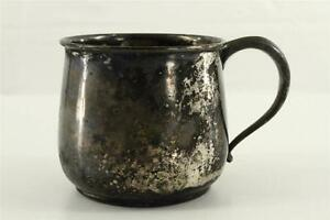 Vintage Estate Sheffield Silver 0457 Plate Baby Cup Hand Engraved Albert