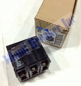 Cutler Hammer Br3100 New Circuit Breaker 100a 3 Pole 240 Vac box Of 5