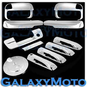10 19 Dodge Ram Chrome Towing Mirror arm 4 Door Handle tailgate W key gas Cover