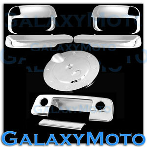 Chrome Towing Mirror arm tailgate W cm gas Cover For 10 19 Dodge Ram 2500 3500