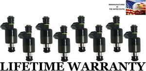 Upgraded 8x Genuine Mercruiser Fuel Injectors For 98 00 454 Bb 25180245 802632t