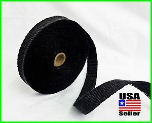 Black Motorcycle Exhaust Wrap Heat Manifold Header 1 X 50ft Roll Very High Temp
