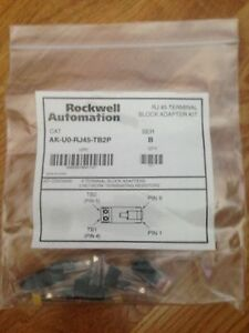 Rockwell Automation ak u0 rj45 tb2p Rj45 Terminal Adapter Kit Package Of 6 New