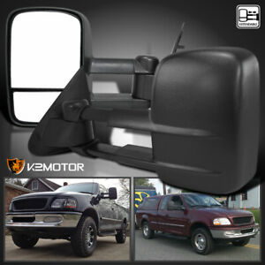 Fit 97 03 Ford F150 Extend Telescoping Manual Towing Side Mirrors Left Right