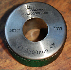 Mahr Federal 21 4300mm Xx Master Bore Gage Setting Ring Calibration Hole