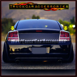 For Dodge Charger 2005 2006 2007 2008 Chrome Taillight Tail Light Covers 2pc Usa