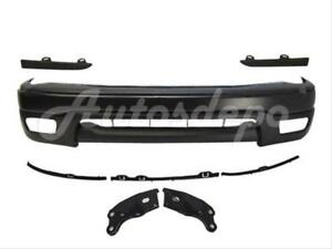 Bundle For 01 04 Tacoma Prerunner Front Bumper Black Bar Pad Valance Bracket 10p