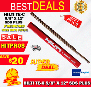 Hilti Te c 5 8 X 12 Sds Plus Preowned free Hilti Pencil l k Fast Shipping