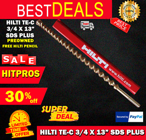 Hilti Te c 3 4 X 13 Sds Plus Preowned free Hilti Pencil l k Fast Shipping