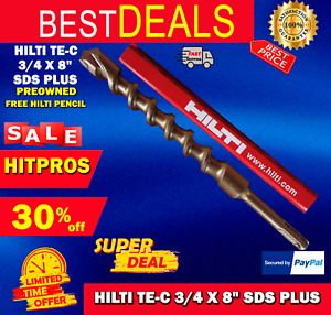 Hilti Te c 3 4 X 8 Sds Plus Preowned free Hilti Pencil l k Fast Shipping