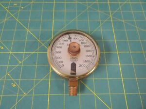Vintage Us Gauge 3 Absolute Pressure Gauge W Rotating Set point 1 4 Steampunk