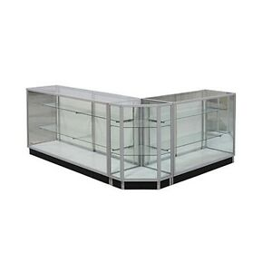 Gcxcombo1 Extra Vision Showcase Combo Unit Checkout Counter Glass Display Case