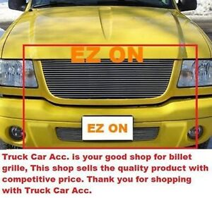 For Ford Ranger Edge Xlt 4wd 2001 2002 2003 2pc Polished Grille Combo W o Logo