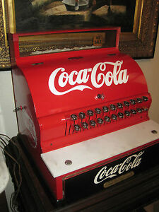 Antique National Cash Register 1924 1925 Coca Cola Themed Restored