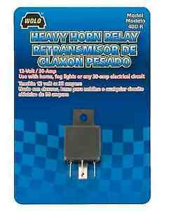 Wolo 400 R Replacement Horn Relay For Wolo 12 Volt Electric And Air Horns