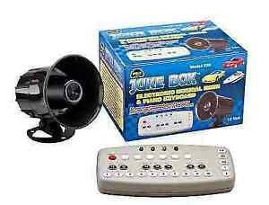 Wolo 336 Juke Box Electronic Musical Horn 12 volt 105 Decibels With 34 Songs