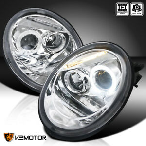 For 1998 2005 Vw Volkswagen Beetle Halo Projector Headlights Pair Left Right
