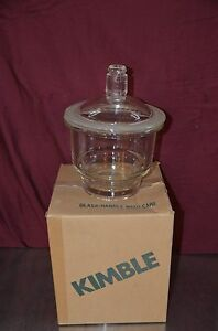 Kimble Kimax 21000 160mm Large Size Glass Desiccator With Knob Top Cover