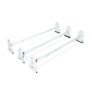 Adjustable Van Rooftop Ladder Rack 750lbs 3 Bar Steel Cargo Carrier Ford Dodge
