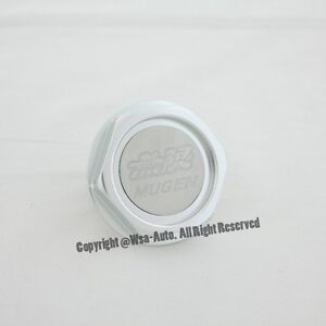 Mugen Power Oil Fuel Filler Racing Engine Tank Cap Cover Honda Acura Silver