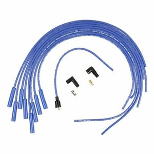 Accel Spark Plug Wires Super Stock 8mm Blue Straight Boots Universal V8 Set