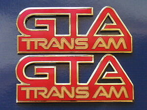 87 92 Pontiac Firebird Trans Am Gta Fender Badge Pair 11 Colors