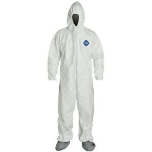 Dupont Ty122s 2xl Tyvek Coveralls Bunny Suit Case 25
