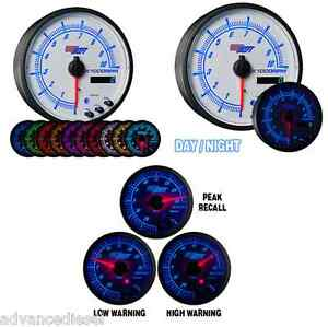 Glowshift White Elite Ten Color In Dash Tachometer Gauge W Shift Light Gs Ewt16